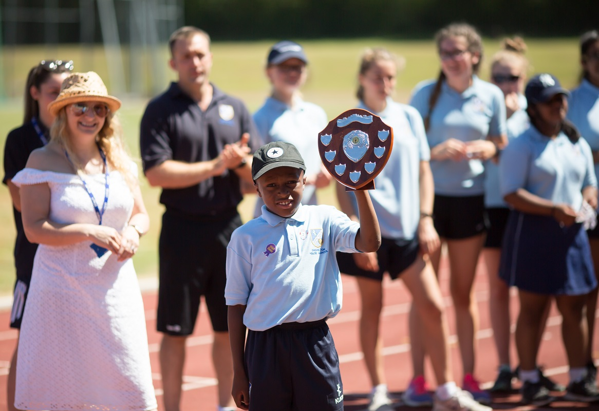 House shield awarded at Prep Sports Day