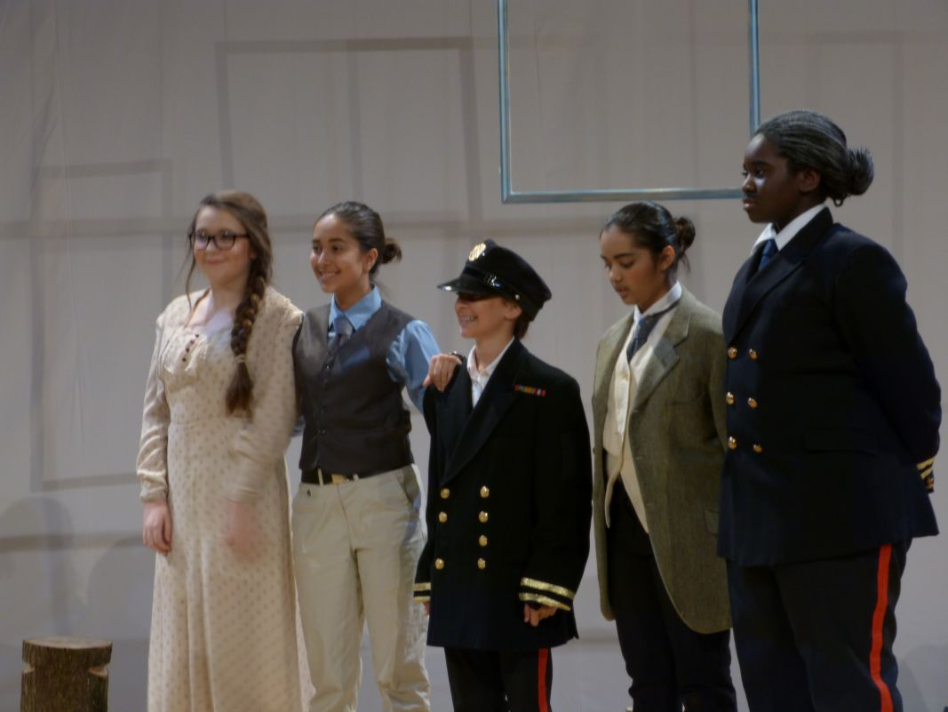 The cast of Babington's Three Sisters Production