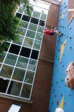 Tony Guise opening the Climbing Wall