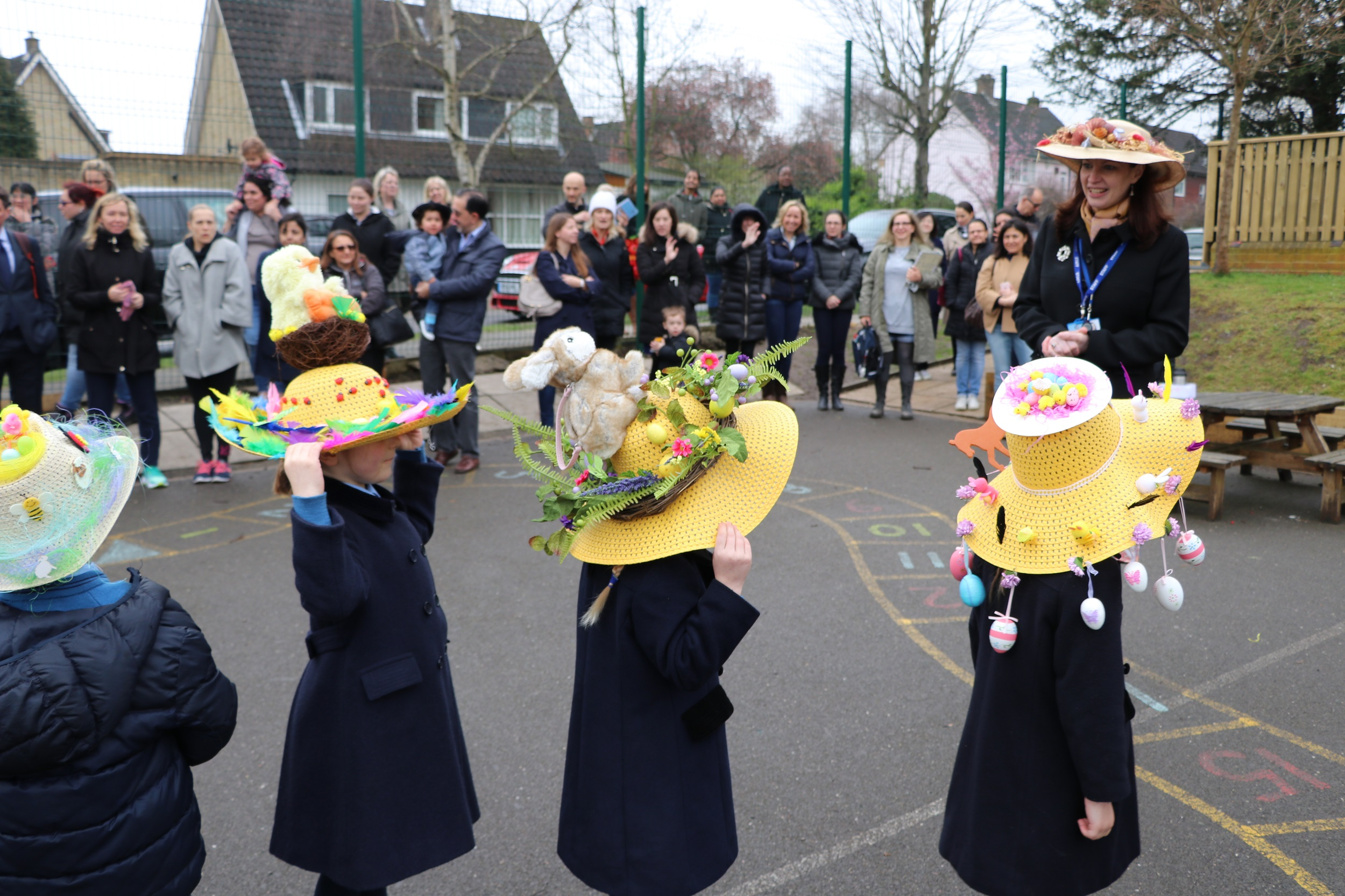 Easter parade watched by Babington parents