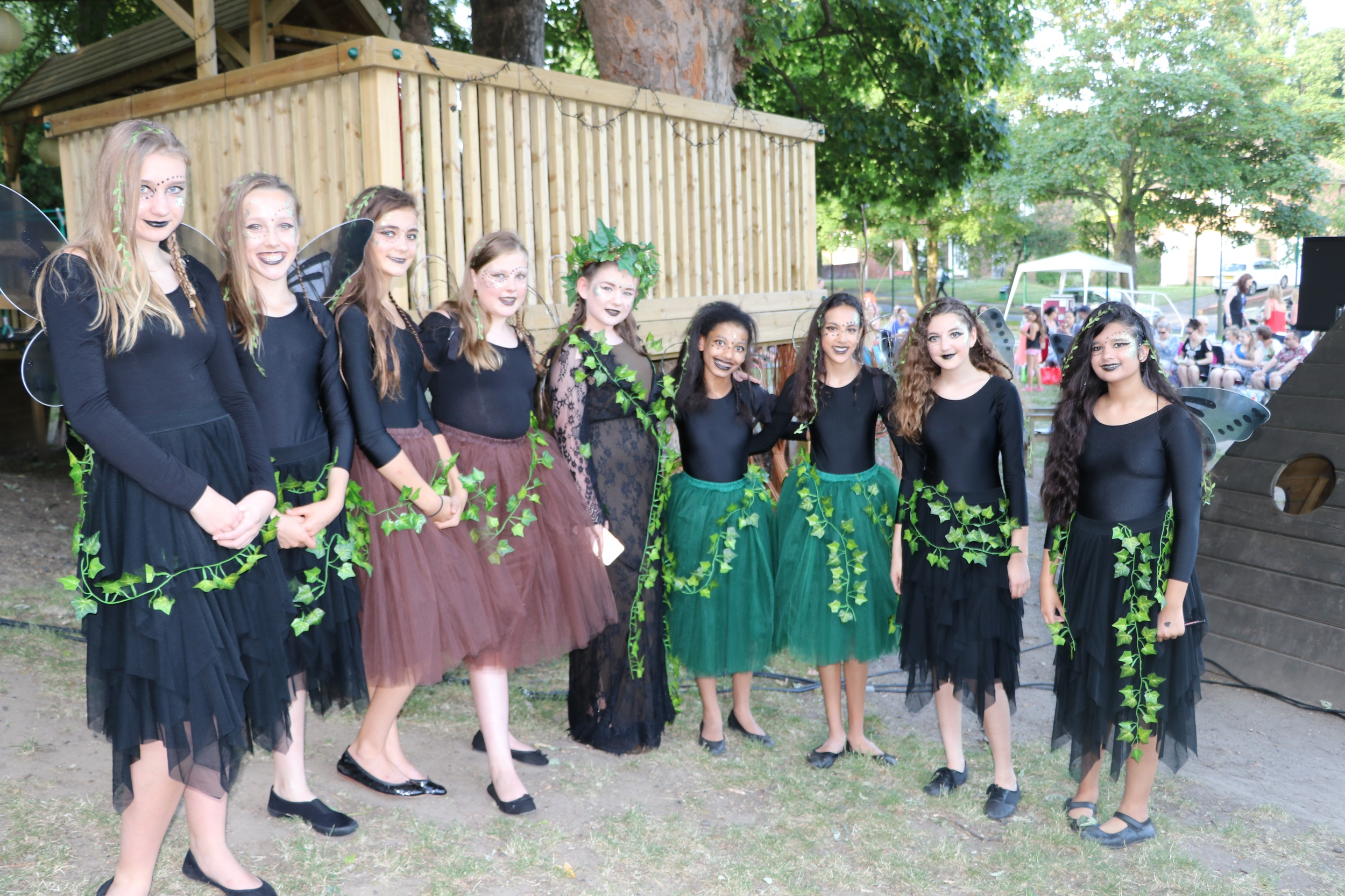 Fairies ready for Midsummer Night's Dream Performance