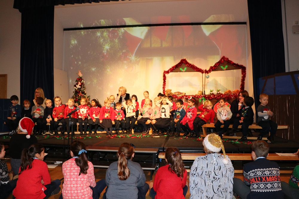 Nursery children perform