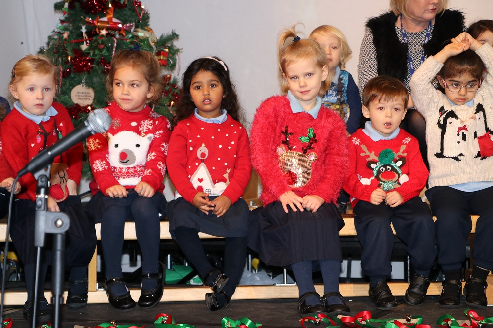Dressed in Christmas jumpers
