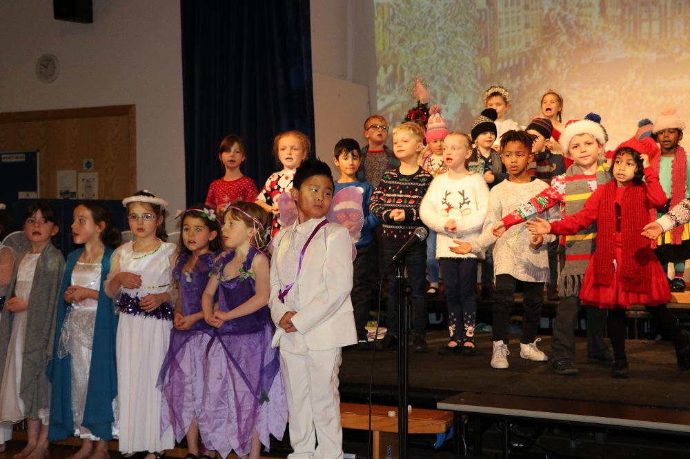 Year 1 & 2 from Babington in good voice