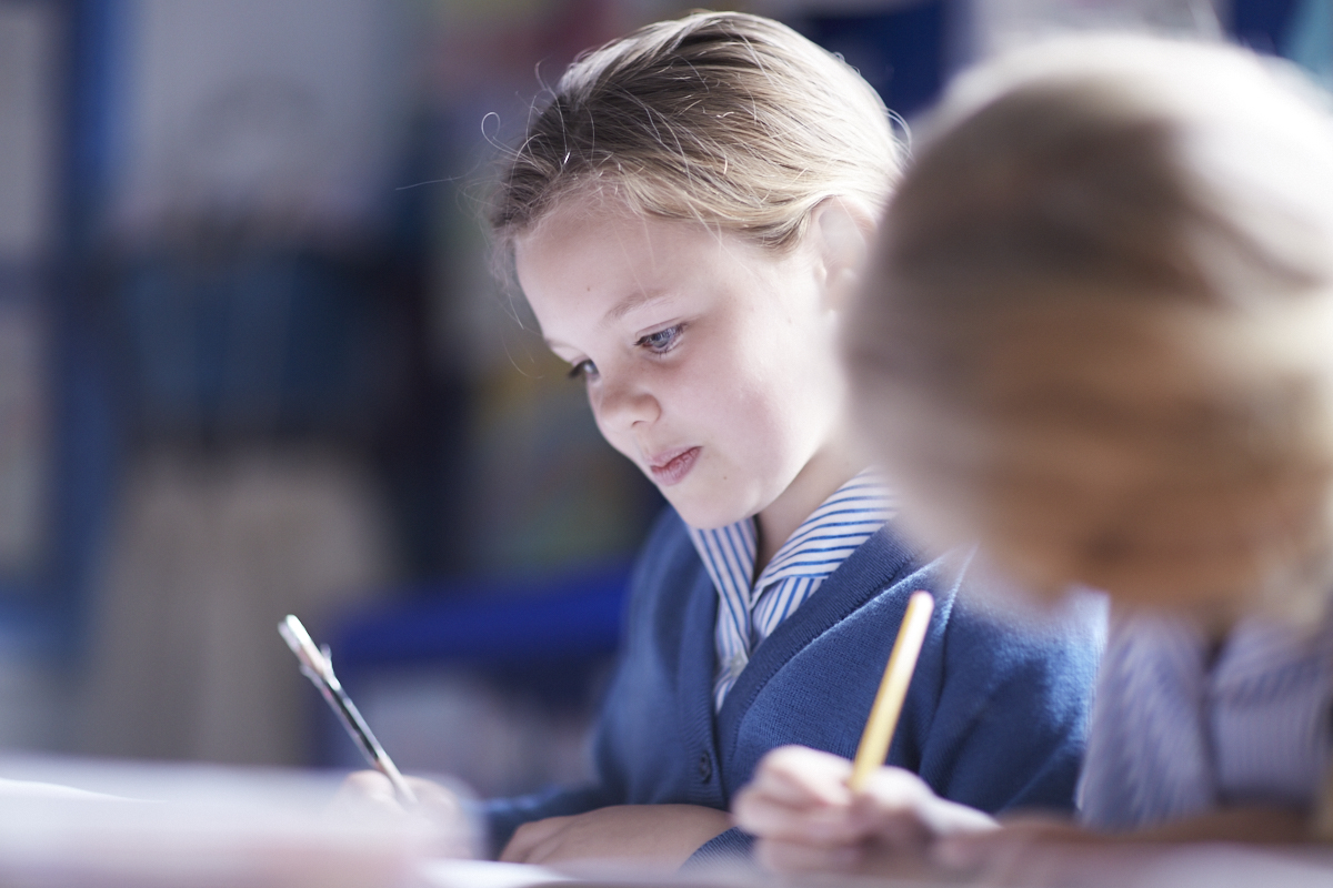 Pupils hard at work in the Babington Prep School, Bromley