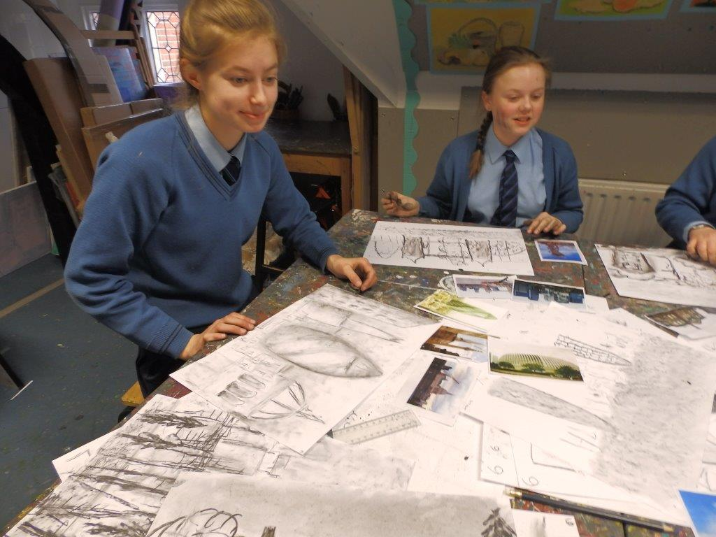 Experimental drawing by Babington pupils