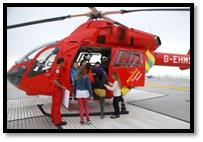 Seeing inside a London Air Ambulance Helicopter